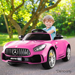 Kids Licensed Mercedes-Benz AMG GT R Ride On Car Inspired Pink Electric Ute With Remote Music Battery
