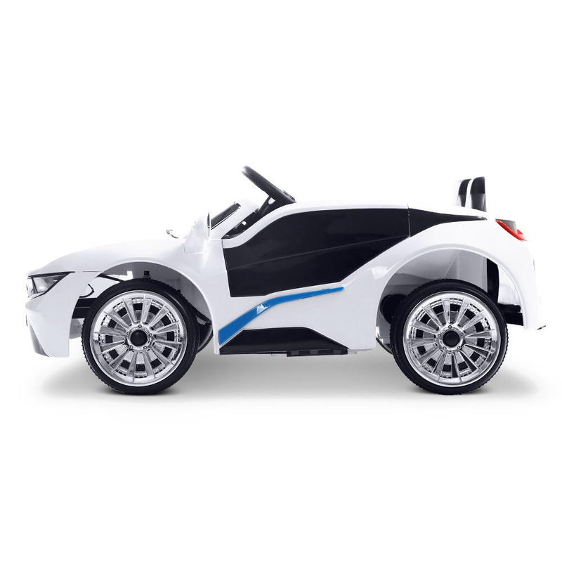 Childs Ride On Car Electric Ute With Remote Music Battery BMW I8 Inspired White