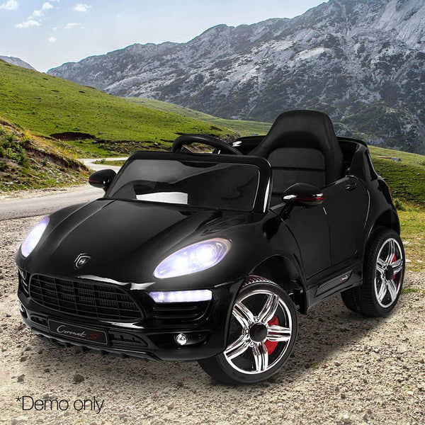 Childs Ride On Car Electric Ute With Remote Music Battery Porsche Macan Inspired Black