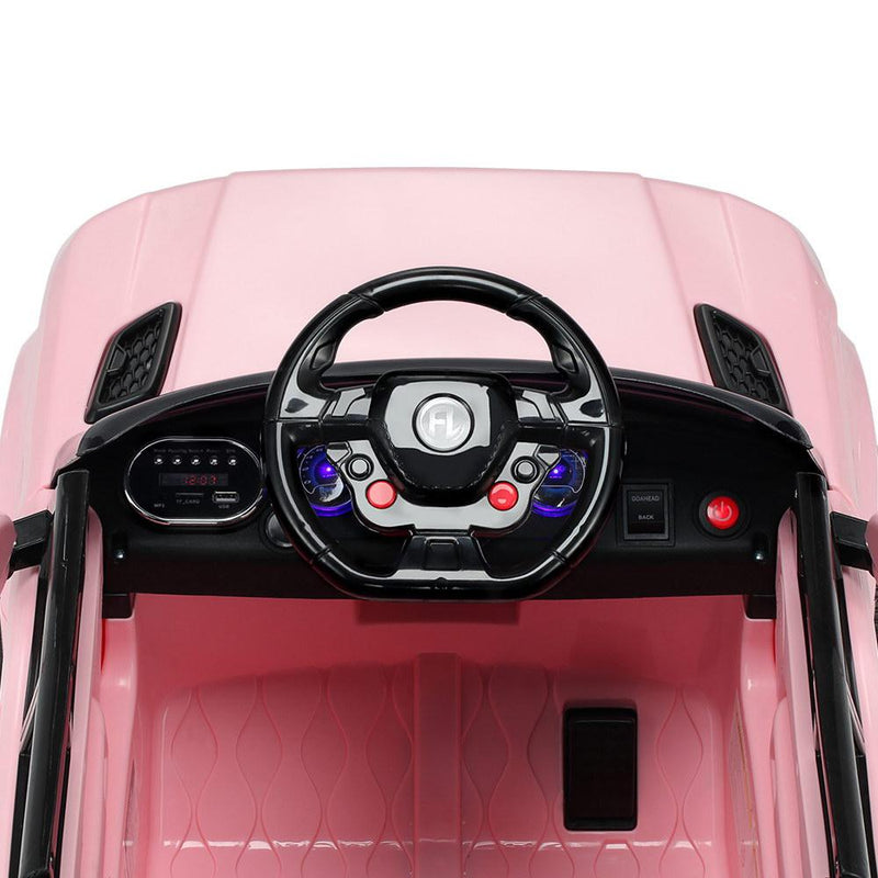 Kids Ride On Car Electric Ute With Remote Music Battery Range Rover Inspired Pink