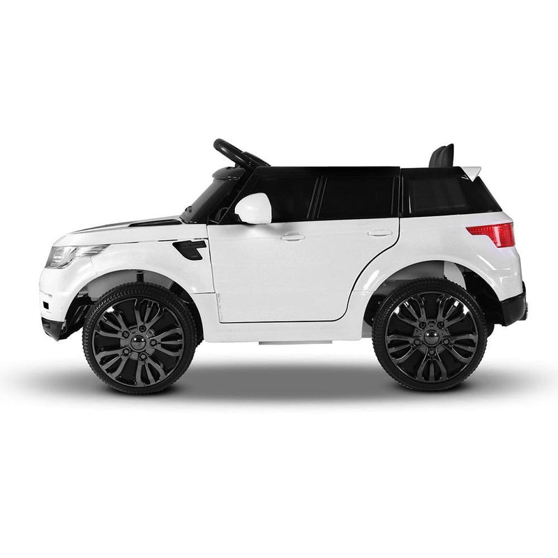 Childs Ride On Car Electric Ute With Remote Music Battery Range Rover Inspired White