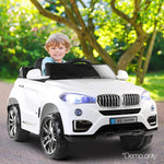 Childs Ride On Car Electric Ute With Remote Music Battery BMW X5 Inspired White