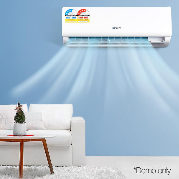 2.5KW Inverter Air Conditioner Split System Reverse Cycle Cooling / Heater