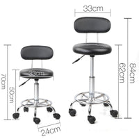 Salon Swivel Chairs W/ Backrest Fully Height Adjustable Hair Beauty Salons Black