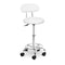 PU Leather Swivel Salon Stool - White