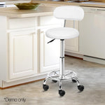 Salon Swivel Chairs Backrest Fully Height Adjustable Beauty Salons White