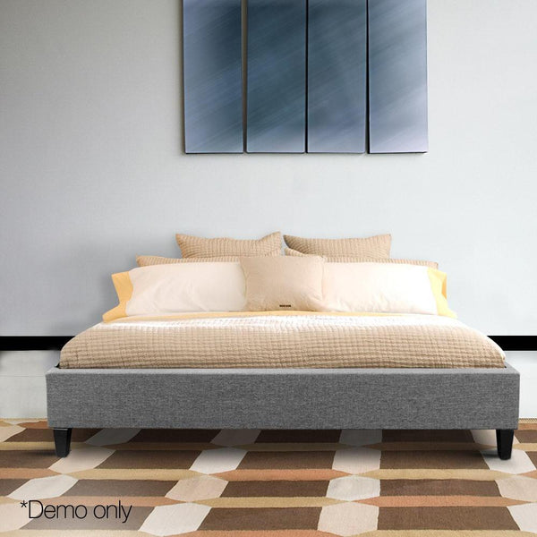 Grace Collection Double Size Bed Base Frame - Grey
