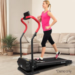 Treadmill Home Gym Electric Exercise Machine Powered Fitness Equipment 6 Speed Levels Red & Black