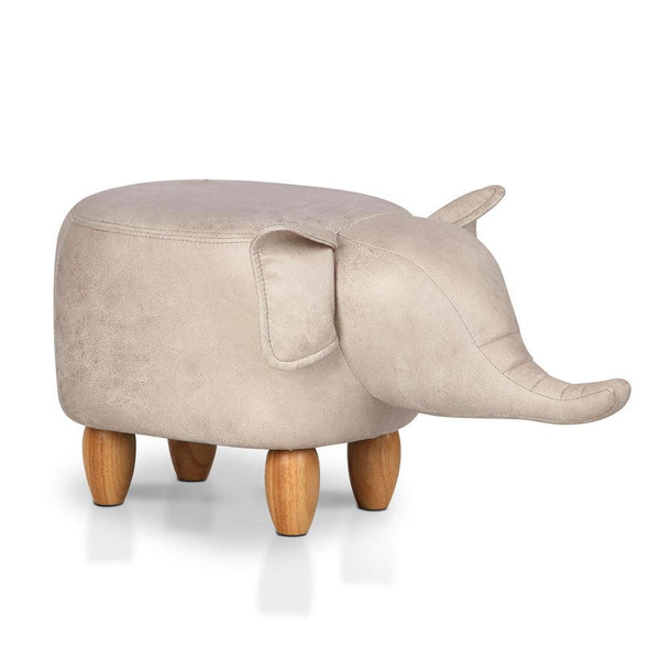 Kids Animal Stool - Beige