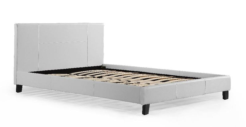 Grace Collections Queen PU Leather Bed Frame White