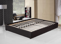 Grace Collection PU Leather Double Bed Ensemble Frame