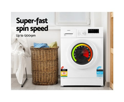 7kg Front Load Washing Machine Quick Wash 24h Delay Start Automatic