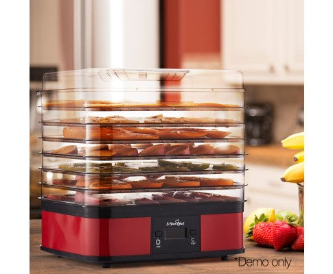 Food Dehydrator With 7 Trays Red Dried Snacks