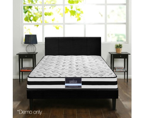 King Single Spring Foam Mattress Ultra Firm 24cm Thick