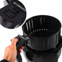 4L Oil Free Deep Cooker Air Fryer - Black