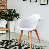 2 X Dining Chairs Home Cafe Kitchen White