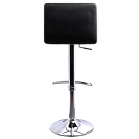 Set Of 2 PU Leather Swivel Square Bar Stools Black Lana Gas Lift