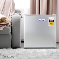 48L Compact Bar Fridge For Home Office Bar Refrigerator Plus Freezer Electric Silver