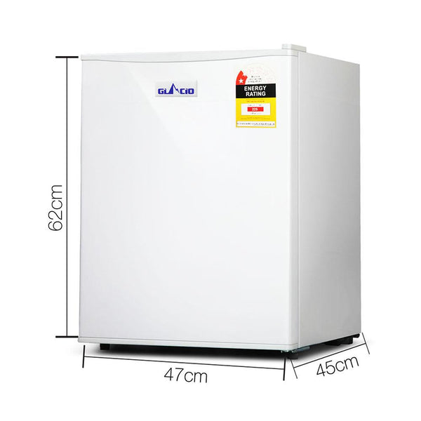 70L Portable Mini Bar Fridge - White