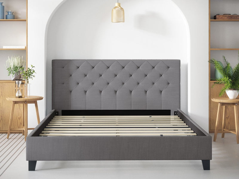 Double Size Casper Fabric Bed Frame (Ash Grey)