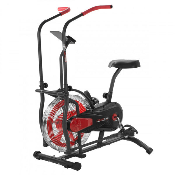 Air Resistance Exercise Red Bike Spin Fan Equipment Cardio