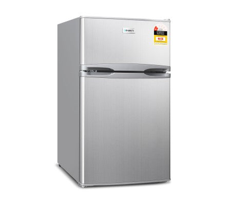 85L Bar Fridge & Freezer - Silver