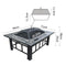 2 In 1 Outdoor Fire Pit BBQ Table Grill 94cm Fireplace