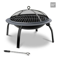 30 Inch Portable Foldable Outdoor Fire Pit Fireplace