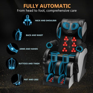 Electric Massage Chair Full Body Zero Gravity Shoulder Back Foot Massager