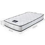 Single Size Pocket Spring Mattress High Density Foam 21cm Thick