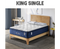 King Single Size Cool Gel Memory Foam Mattress 5 Zone Latex 34cm