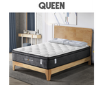 Queen Size Eurotop Mattress 5 Zone Pocket Spring Latex Foam 34cm