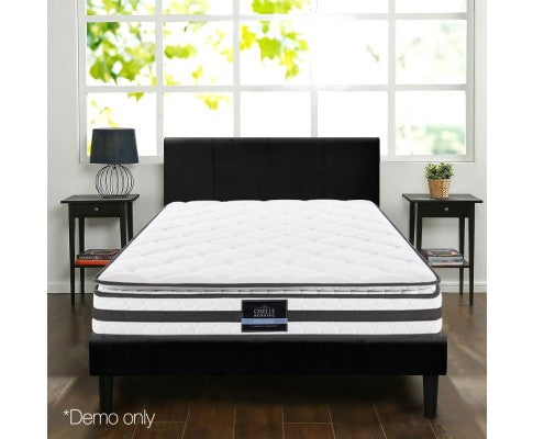 21cm Thick Bonnell Springs Mattress Queen High Resilience Foam Medium Firm
