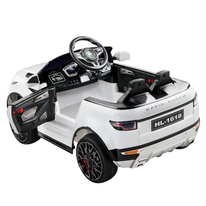 Childs Ride On Car Electric Ute With Remote Music Battery Range Rover EVOQUE Style White