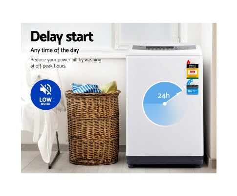 10kg Top Load Washing Machine Multiple Washing Programs Six Water Levels