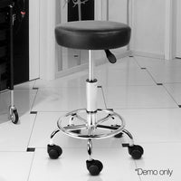 Salon Swivel Chairs Fully Height Adjustable Hair Beauty Salons Round Black