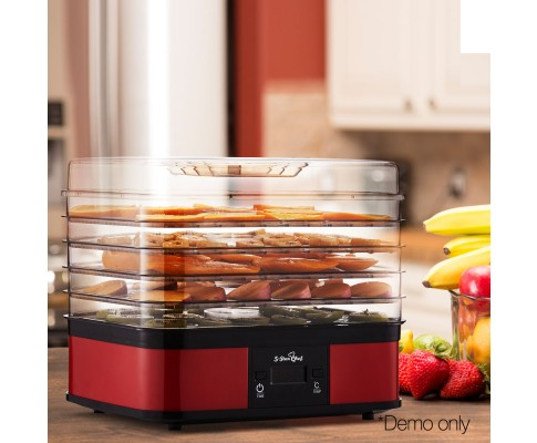 Food Dehydrator With 7 Trays Red Dried Food Snacks