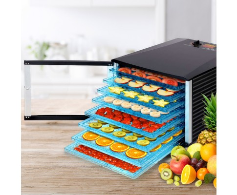 8 Tray Food Dehydrator Clear Door Design For Home Or Commercial Use
