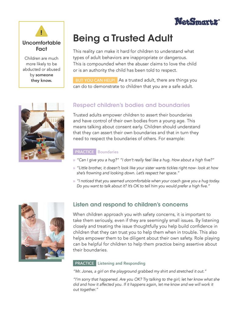 Being a trusted adult by Netsmar