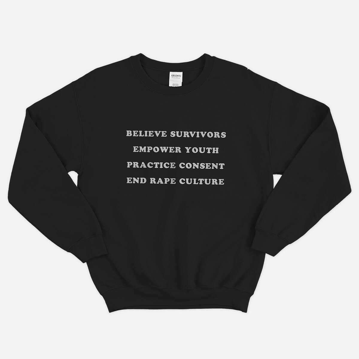 Adult crewneck sweatshirt: Black