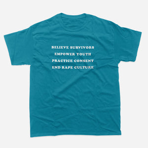 Adult t-shirt: SAAM Teal