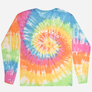 Adult long-sleeve t-shirt: Tie Dye, Empowered