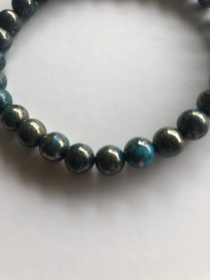 Stimulating Blue Pyrite Bracelets Unisex - Different sizes available