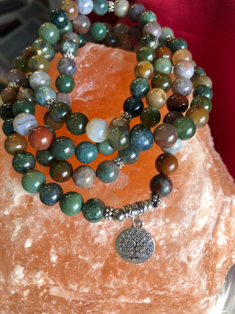 Indian Onyx Mala for Strength and Initiation