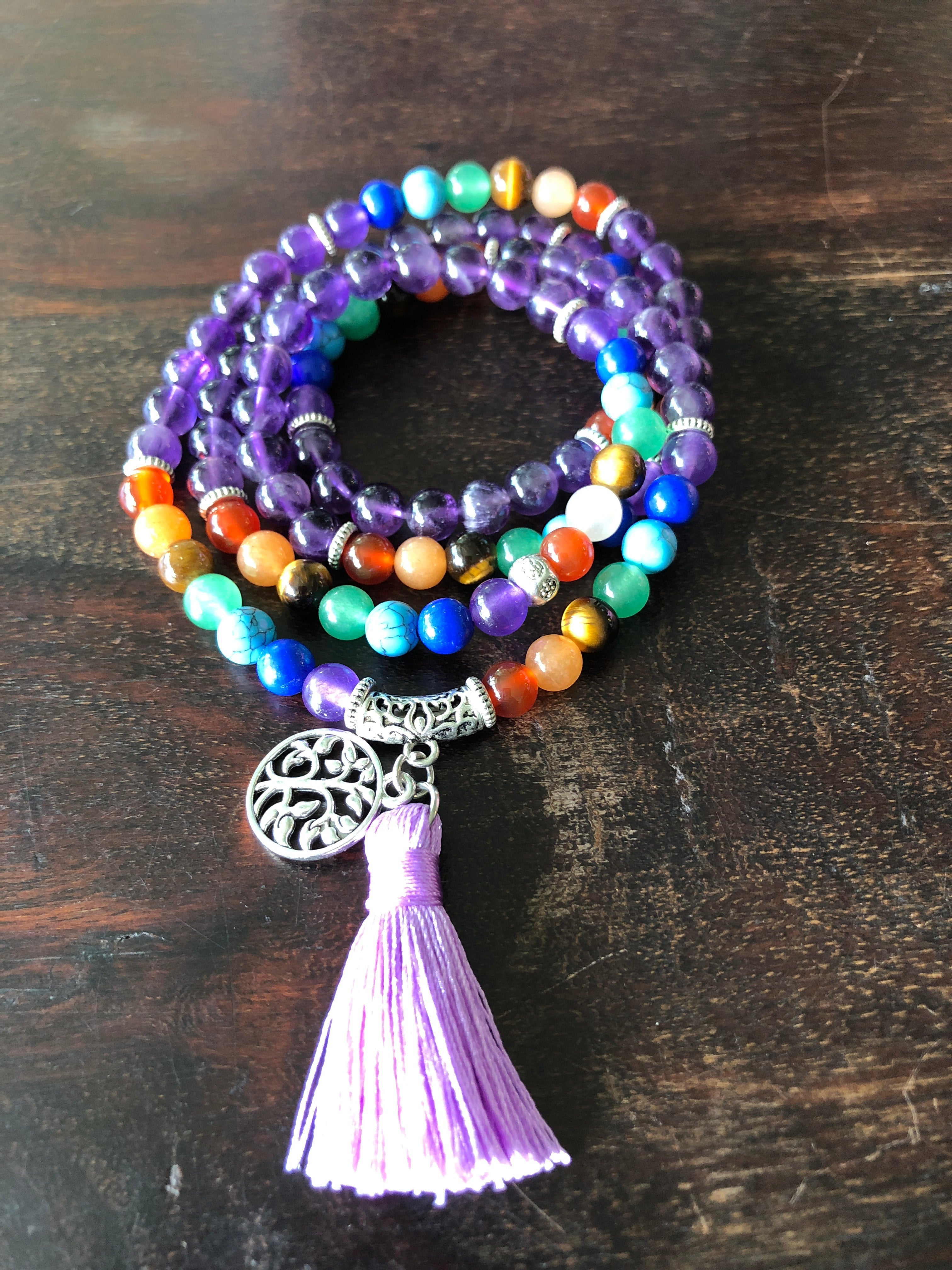 Mala 6mm - Love, Power and Luck option of Colors