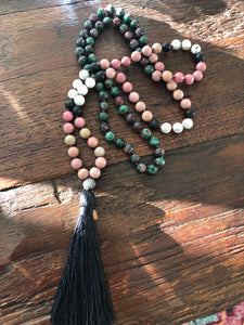108 Stone - Knotted  Mala Necklace 8MM