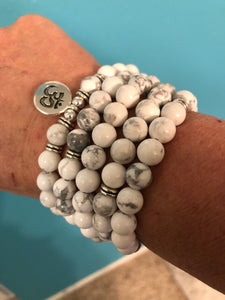 Wisdom and Attunement White Howlite - Stretch Cord