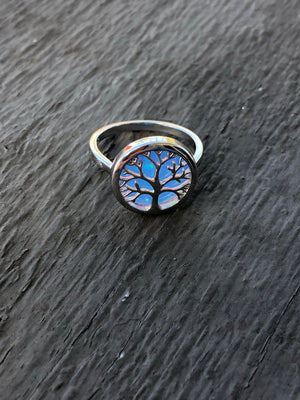 Tree of Life Fire Opal Rings