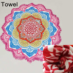 Thick Cotton Blanket Tassel Mandala