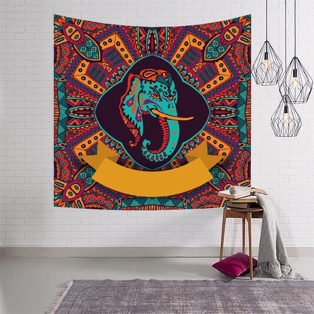 Tapestry - Various Selections - Astrology, Chakra Elephant,  Ganesha
